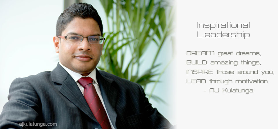 AJ Kulatunga Inspirational Leadership Speaker
